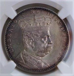 2 Lire 1890 R Colonia ...