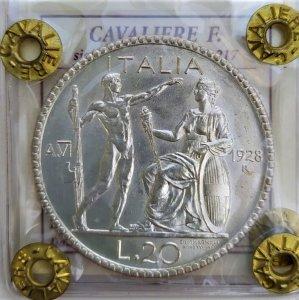 20 Lire Littore 1928 A.VI ...