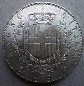Vittorio Emanuele II  5 Lire ...